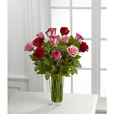 The True Romance Rose Bouquet by FTD - VASE INCLUDED