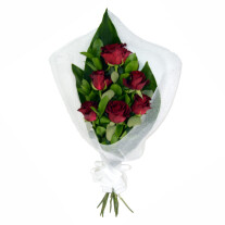 Red Roses in Wrapping